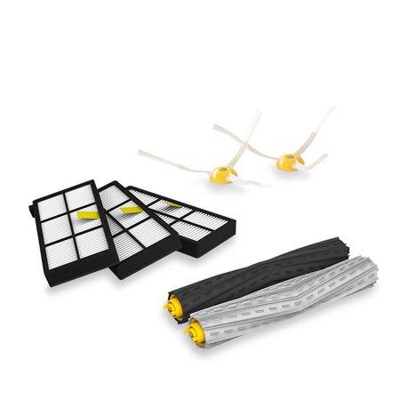 kit-2-escovas-emborrachadas-3-filtros-hepa-2-escovas-laterais-roomba-serie-800-e-900